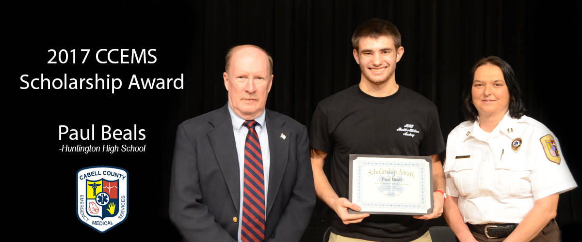 Paul Beals receives CCEMS Scholarship=